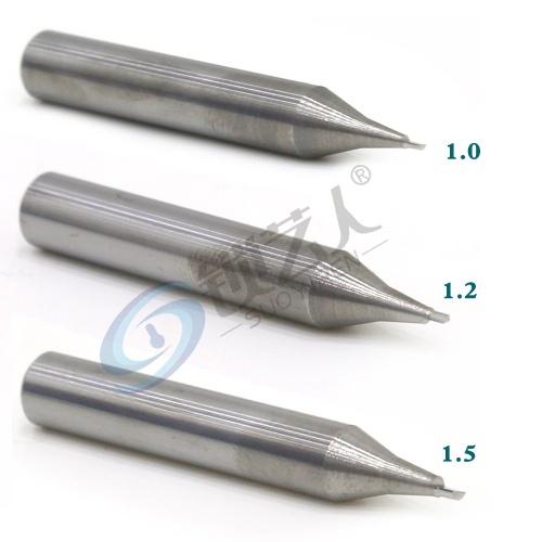 钨钢-立铣刀-1.2青虹刀 φ1.2xφ6x40x1F 单刃 钨钢立铣刀 钥匙机铣刀  RAISE