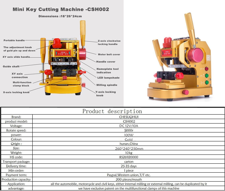 CSH-002 多功能 数控 钥匙机 车锁汇 立铣 钥匙 配钥匙