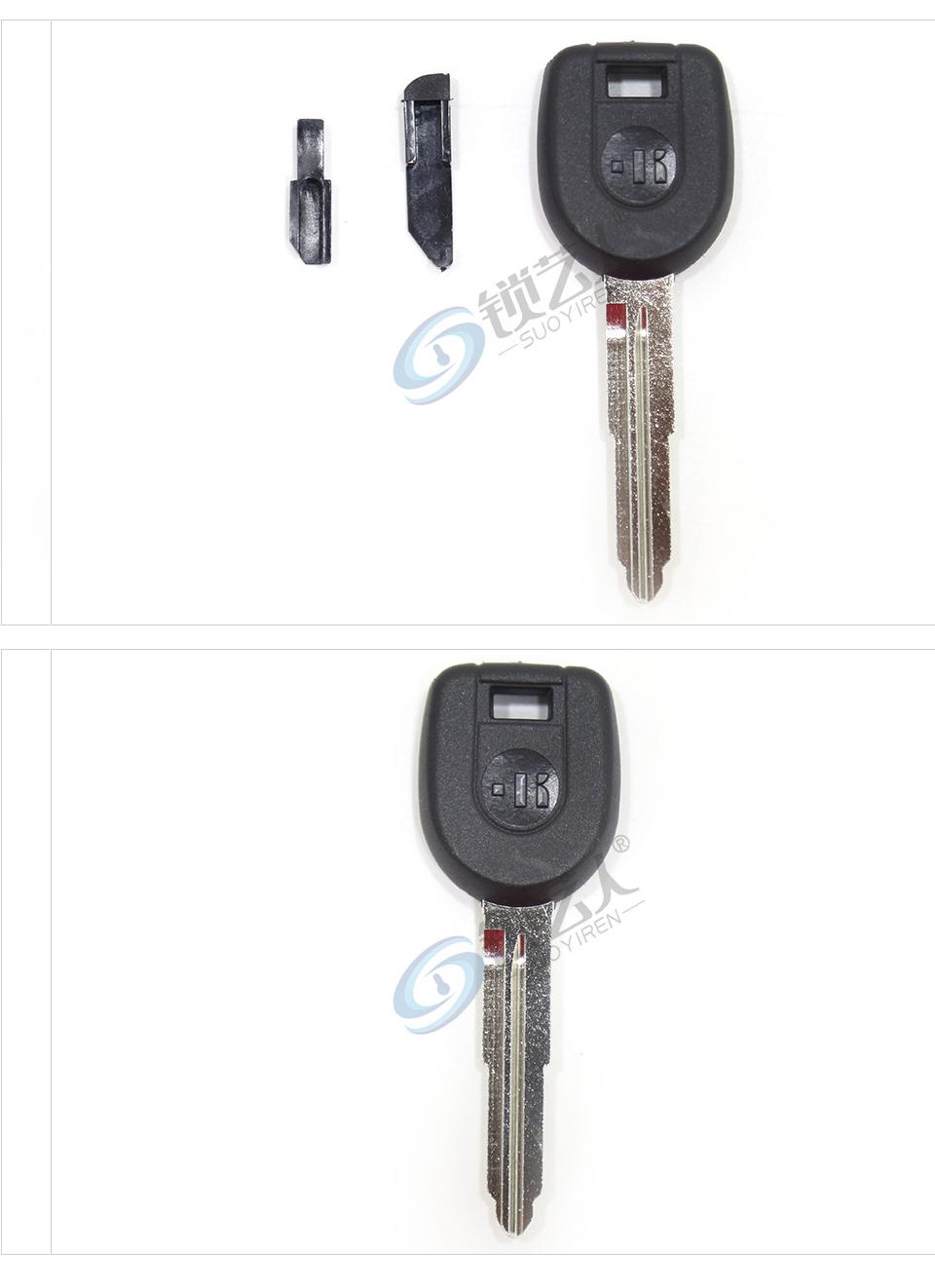 意大利进口开灵KEYLINE三菱芯片钥匙壳MT8SBTK MIT11 三菱直板钥匙-带芯片槽